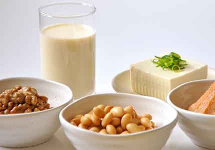 たんぱく質豊富な大豆や大豆製品