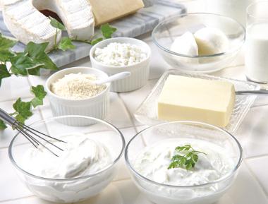 タンパク質や乳酸菌豊富な乳製品