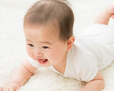 デリケートな素肌の赤ちゃん