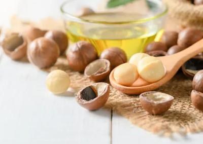 オメガ7系の脂肪酸豊富でアンチエイジングに効果的なマカデミアナッツオイル