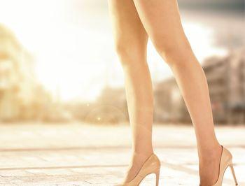大山式ボディメイクパッドあし美人を身に付けてすらっとした美しい足