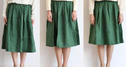 ロング丈、ミモレ丈、膝丈のスカートの比較