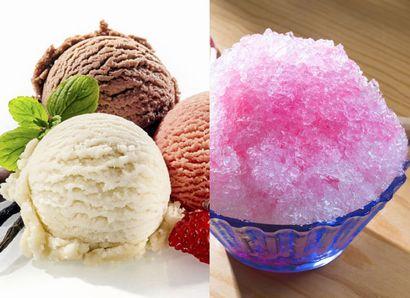 体を冷やすアイスとかき氷