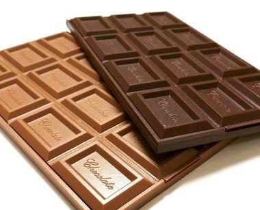 ミルクチョコレートとブラックチョコレート