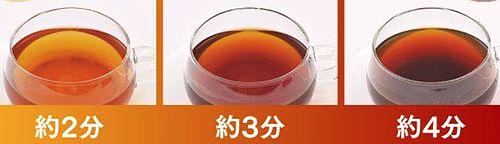 蒸らし時間によって濃さの変わるお茶