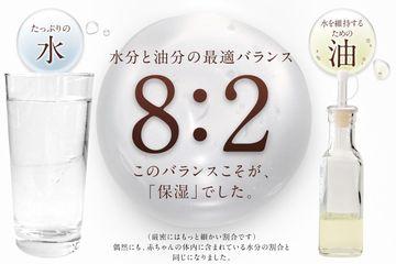 8:2の水分と油分の最適なバランスの説明図