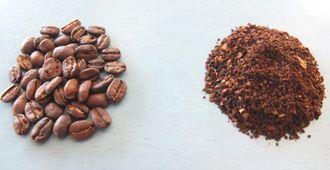 コーヒー豆とコーヒーの粉(中細挽き)