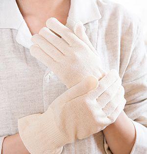手を守る就寝用の手袋
