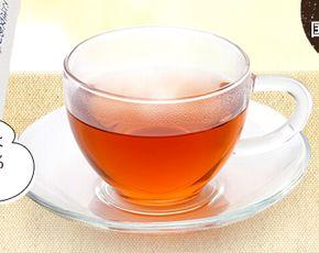 グラスに注がれたハイサラシア茶