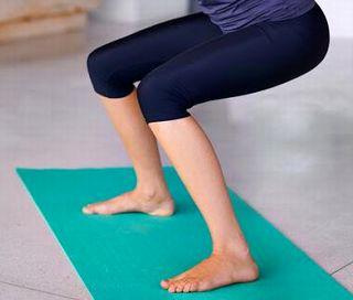 足の筋肉を鍛えている様子