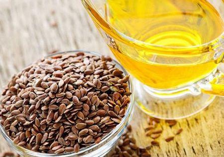 亜麻の種子と亜麻仁油