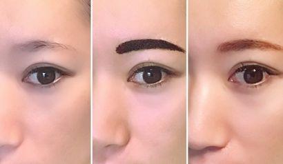 眉ティントを使用する過程