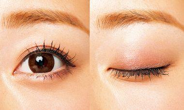 マスカラを付けた女性の目