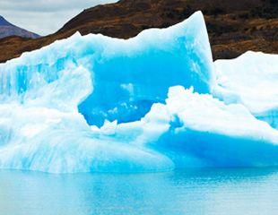 氷河ミネラルが抽出できる氷河のイメージ