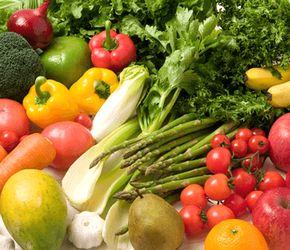 ビタミン、ミネラル豊富な野菜や果物