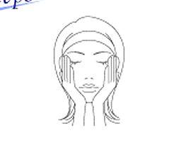 化粧水の使用方法のイラスト