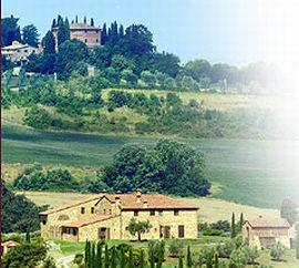 イタリアの農場の風景