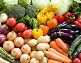 新鮮な野菜の数々