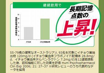 イチョウ葉エキスによる長期記憶力の改善のグラフ