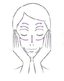 乳液をなじませる女性のイラスト