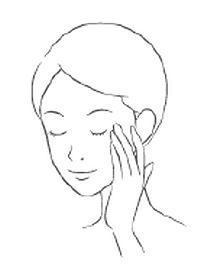 クリームを目元になじませる女性のイラスト