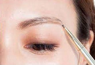 アーチ眉の輪郭の描き方