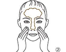 洗顔の仕方のイラスト