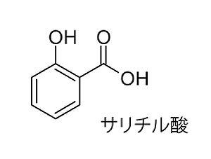 サリチル酸の原子構造