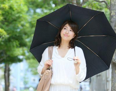 日傘を差して紫外線対策をする女性