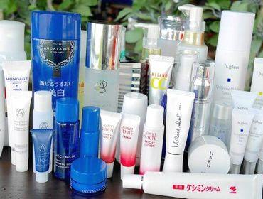 美白化粧品の数々