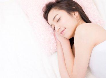 適切で質のよい睡眠をとる女性