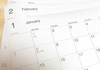 単品ダイエットを計画するカレンダー