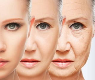 加齢による肌のたるみ