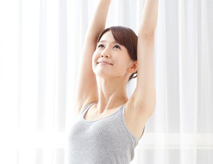 肌の免疫力が高まった女性