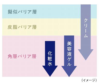 エクスバリアの3ステップケアのバリア層への効果